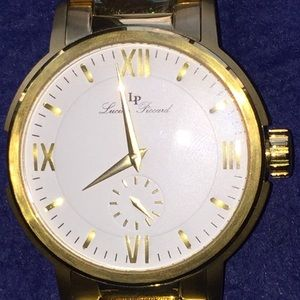 Nice Large Lucien Piccard Bremen Gold Tone Watch